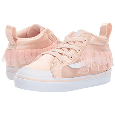 Vans Kids Satin Tulle Racer Mid (Toddler) ((Satin Tulle) Vanilla Cream/True White) Girl
