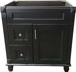 Carbon Metallic solid wood Single Bathroom Vanity Base Cabinet 30