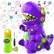WisToyz Bubble Machine Dinosaur Bubble Blower, Walk & Stay Still Two Settings, Music..