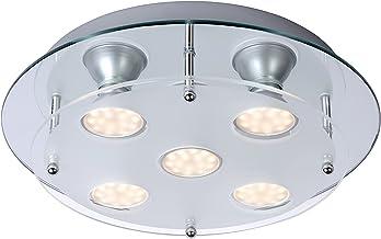 Lucide READY-LED - Plafonnière - Ø 30 cm - LED - GU10 - 5x3W 3000K - Chroom