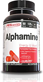 PEScience Alphamine Weight Loss Energy Capsules, 60ct