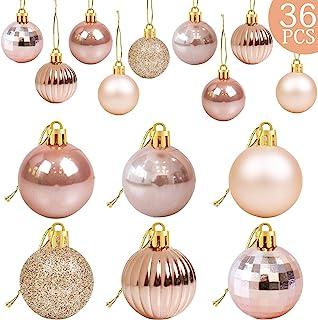 36Pcs Rose Gold Christmas Balls Ornaments for Xmas Tree - Christmas Tree Ornaments - Christmas Decorations- Christmas Tree...