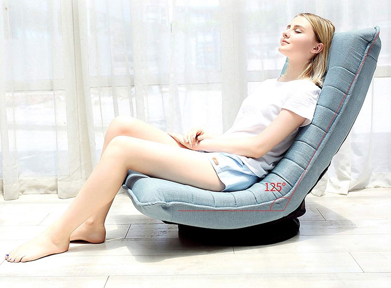 Bewinch Chaise De Sol, Lazy Canapé Chaise, Pliant Inclinable À 360 ° Méditation Rotation Séminaires Yoga Regarder La Télévision Ou Les Jeux Adapté À La Maison Ou Bureau Lake blue