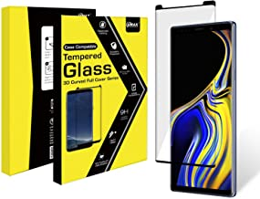 VMAX Galaxy Note 9 Screen Protector Full-Coverage 3D Curved Asahi Japan AGC Tempered Glass 9H 0.20 mm Anti-Dust Anti-Scratch/Shatter Anti-Fingerprint Bubble-Free Self-Adhesive HD Life-time Warranty