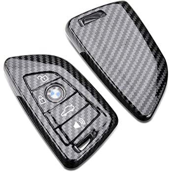 X AUTOHAUX TPU Car Smart Key Remote Flip Fob Cover Shell Protective Case for BMW 135i 12-13 Carbon Fiber Pattern