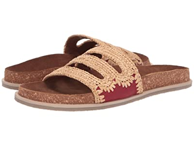 Free People Crete Footbed Sandal (Red) Women
