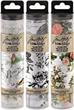 Tim Holtz Idea-ology Collage Paper Rolls - Bundle of Three Rolls