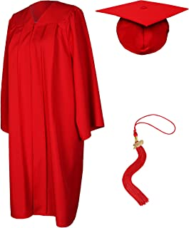 Unisex Graduation Gown with Cap and Tassel 2019 Matte Robe