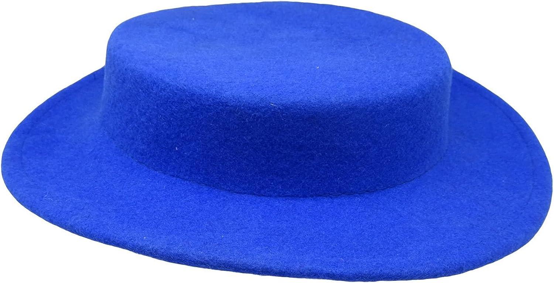 HATsanity Women's Trendy Wool Felt Mini Boater Hat Style Fascinator
