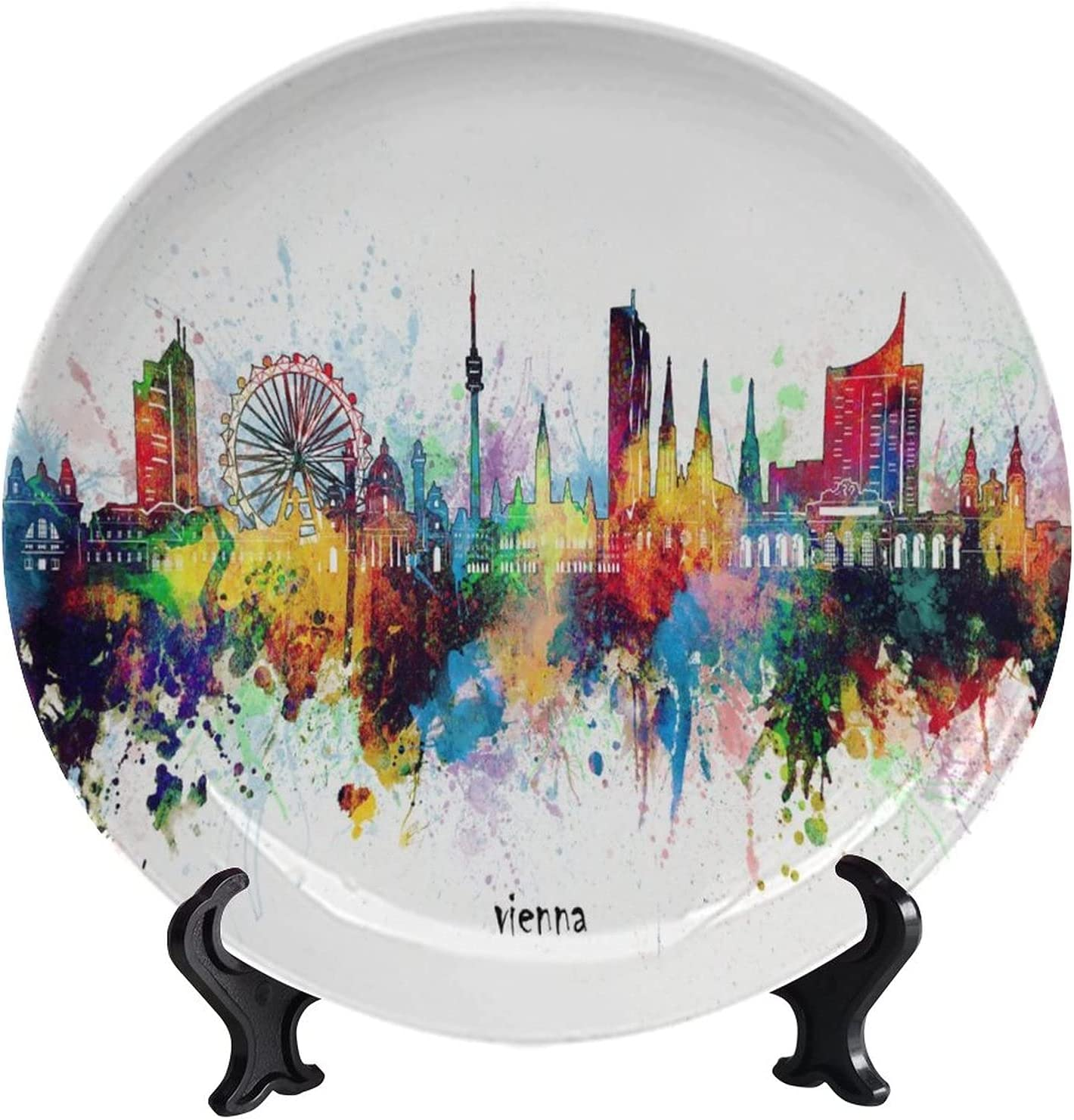 Lyzelre Decorative Ceramic Plates Challenge the lowest price of Gorgeous Japan ☆ Colourful City Artistic Vienna