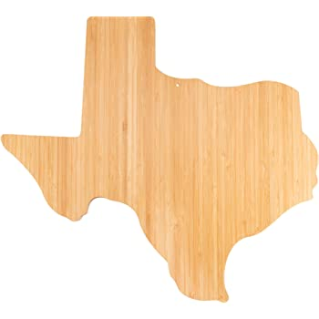 Island Bamboo USA Texas State Shaped Cutting Board - Great for Kitchen Decor, Cheese Server, Personalized Charcuterie Board, Serving Platter, or Gifts for the Home