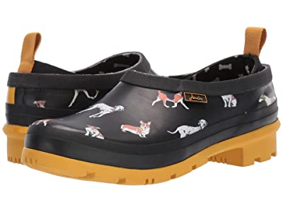 Joules Pop On (Black Dogs) Women
