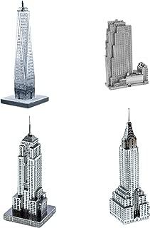 Set of 4 Metal Earth 3D Laser Cut Models: 30 Rockefeller Plaza, Empire State Building, Chrysler Building, & One World Trade Center