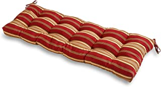 Greendale Home Fashions Indoor/Outdoor Bench Cushion, Roma Stripe, 51-Inch