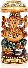 AapnoCraft Wooden Handcarved Ganesh Ganesha Statue Hindu God Religious sculpture Gift Home Decor Showpiece