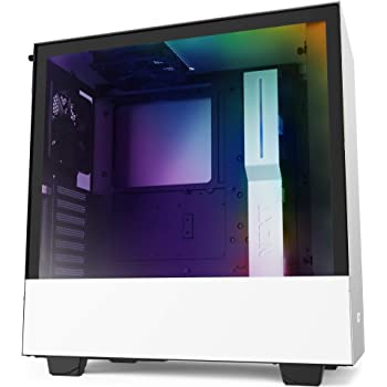NZXT H510i - CA-H510i-W1 - Compact ATX Mid -Tower PC Gaming Case - Front I/O USB Type-C Port - Vertical GPU Mount - Tempered Glass Side Panel - Integrated RGB Lighting - White/Black