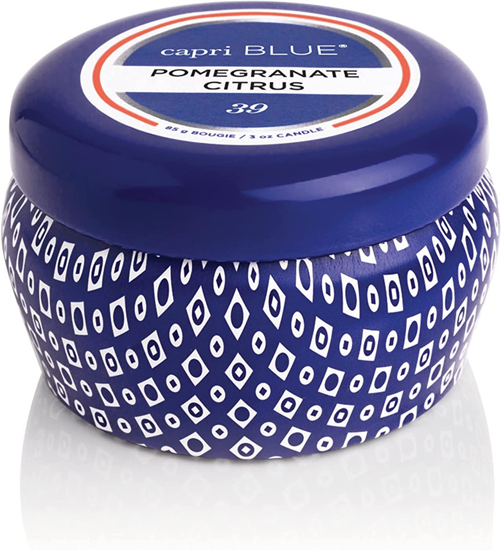 Capri Blue Tin Candle - 8.5 Oz Pomegranate oz. 9 Citrus Limited Ultra-Cheap Deals time cheap sale