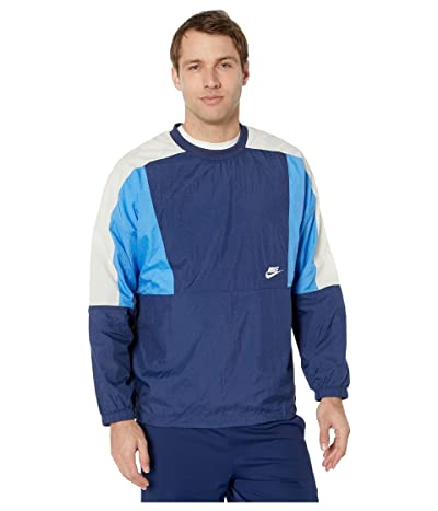 Nike NSW Jacket Woven Crew Color Block (Midnight Navy/Pacific Blue/White) Men