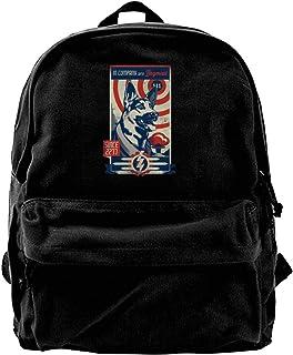 NJIASGFUI Rucksack aus Segeltuch, Marineblau, 4 mit Hundefleisch, für Fitnessstudio, Wandern, Laptop, Schultertasche für Männer und Frauen