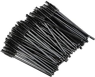 Bullidea 50X Disposable Mascara Wands Eyelash Brushes Lash Extension Applicator Spoolers 3 Color Black
