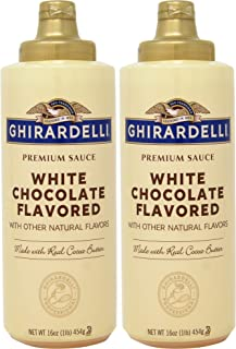 Ghirardelli White Chocolate Sauce 16 oz Squeeze Bottle (Pack of 2)