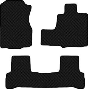Honda CRV 2006-2012 Automatic Black Floor Rubber Tailored Car Mats 3mm 3pc Set