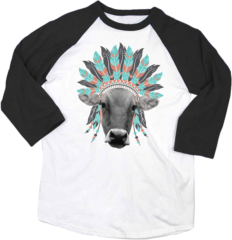 Farm Girl Women's Headress Boyfriend Raglan Quarter Sleeve Shirt