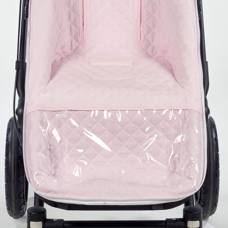 Funda cubre silla de paseo Saco Silla Mar/ía uso universal bugaboo Adaptable a invierno y verano con reposapi/és plastificado para su f/ácil lavado cochecito Pasito a Pasito Color Beige.