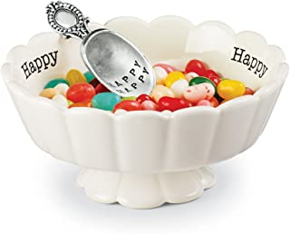 Mud Pie 4881011 Happy Candy Dish Set, White