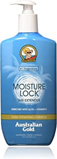 Australian Gold Moisture Lock Tan Extender Moisturizer Lotion, Enriched with Aloe & Vitamin E, 16 Ounce
