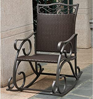 Lisbon Resin, Wicker and Steel Rocking Chair