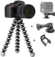 CEUTA® Camera Tripod with Go Pro Mount Flexible Tripod, Tripods for Phone with Smartphone Mount for iPhone Xs, Samsung, Tr...