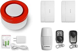 Raynon WiFi Home Security System Base Kit, Alarm, Door Sensor, PIR Sensor, Remote Control