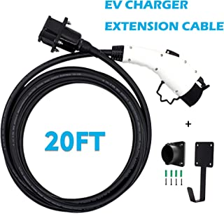 Zencar 20 FT EV Charging Extension Cable Electric Vehicle Extension Cord Compatible with Any J1772 Charging Cable(Rated Current 30 Amp)