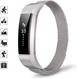 TOMALL Metal Bands Compatible for Fitbit Alta and Alta HR,Stainless Steel Metal Replacement Wristband for Women Men
