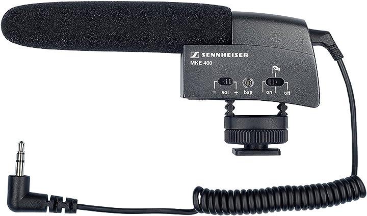 Mini microfono direzionale per videocamere sennheiser mke 400 video microfono per telecamere e videocamere