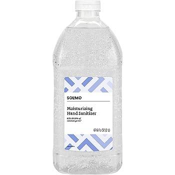 Amazon Brand - Solimo Hand Sanitizer, Original Scent, 67.6 Fl Oz (Pack of 1)