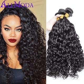 Ali Moda Hair Malaysian Water Wave 3 Bundles Virgin Hair and Unprocessed Human Hair Weave Extension(12 14 16)