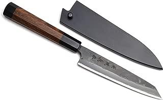 Yoshihiro Aogami Super Blue High Carbon Kurouchi Petty Kiritsuke Utility Knife (5.3'' (135mm) & Saya)