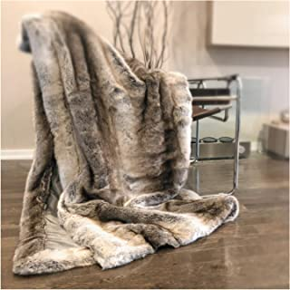 tahari heathered faux fur blanket