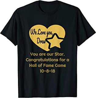 Football, graphic t-shirt congratulating Drew - the Brees