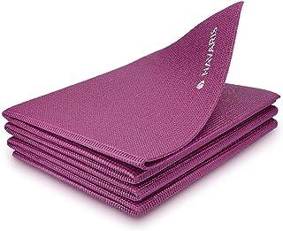 comprar comparacion Navaris Esterilla de Yoga Antideslizante - Colchoneta de Gimnasia Plegable - 173 x 61 x 0.4 CM - Alfombra de Entrenamiento...