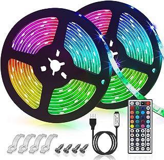 GLIME LED Streifen 6M Led Stripes RGB 5050SMD LED Bänder Lichtband mit 44 Tasten Fernbedienung 6 Modi 20 Farben dimmbar Le...