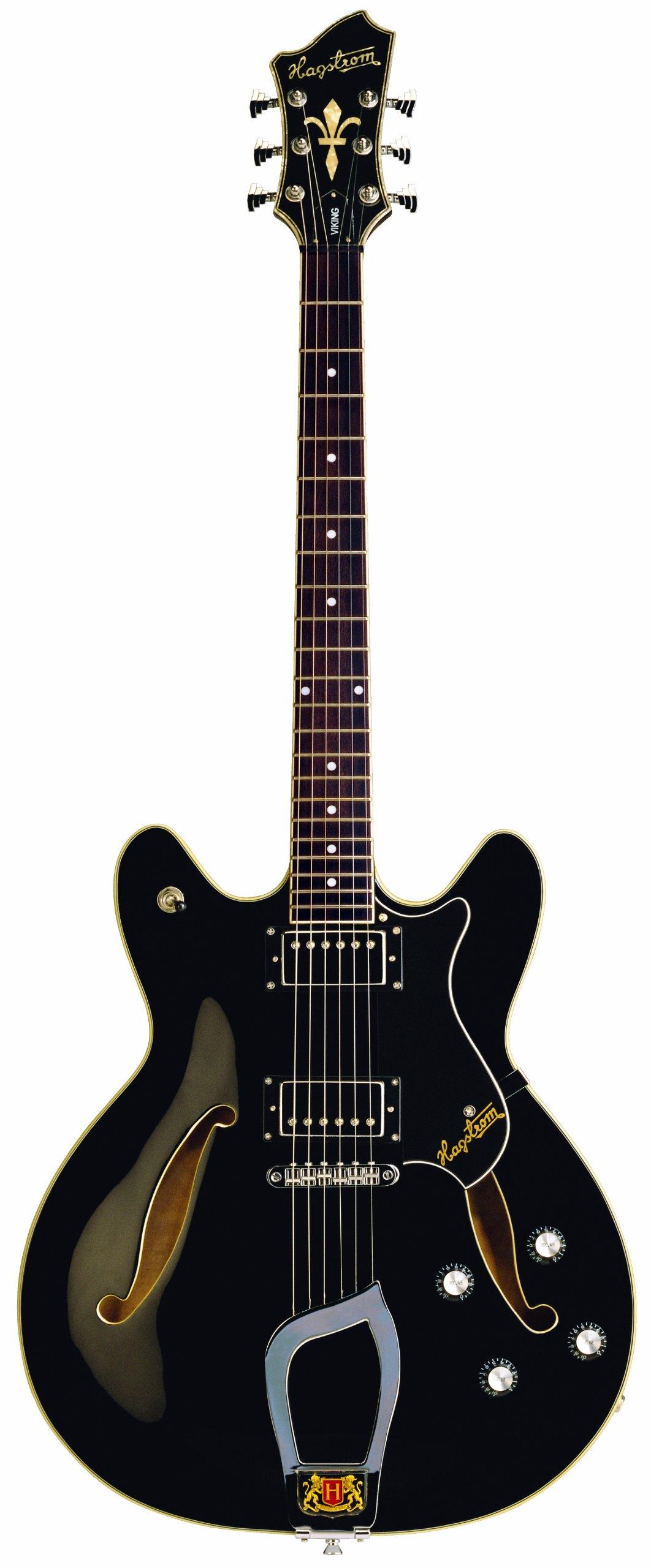 Cheap Hagstrom Viking Semi-Hollow Electric Guitar - Black Gloss Black Friday & Cyber Monday 2019