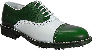 Atelier Guarotti Chaussures de golf italiennes faites à la main pour homme – Pointes – sur mesure – Royal