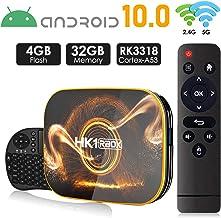Android 10.0 TV Box 【4GB RAM 32GB ROM】 HK1 Ultra HD 4K Smart TV Box RK3318 Quad Core de 64 bits con Dual-WiFi 2.4G / 5.0G / BT 4.0 / 3D / H.265 / USB 3.0 TV Box Android Media Player