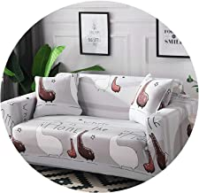 littlepiggy Big Green Leaves Sofa Cover Couch Cover Polyester Bench Covers Elastic Stretch Furniture Slipcovers for Home Decoration,BT-02,AB 145-185cm