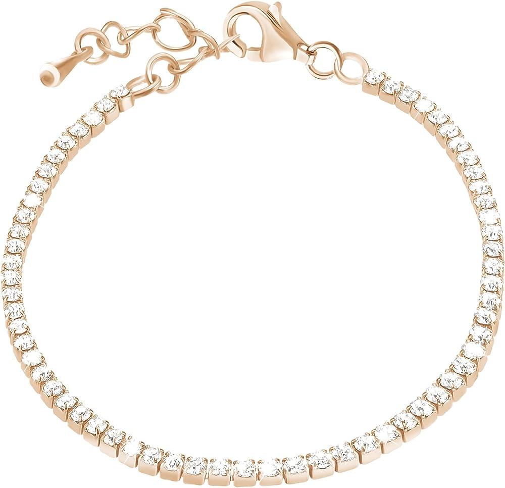 Stroili  bracciale per donna in metallo rodiato e cristalli 1651057