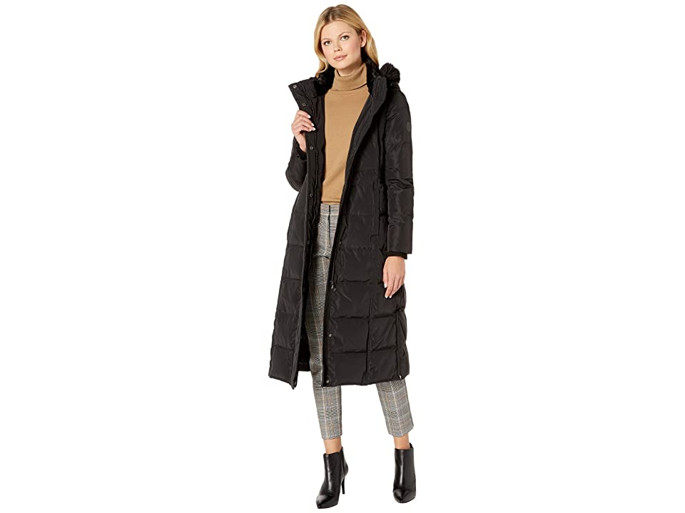 LAUREN Ralph Lauren Maxi Hooded Down (Black) Women