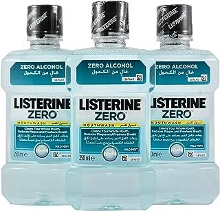 Listerine Zero Mouthwash - Pack of 3 Bottles (3 x 250 ml)